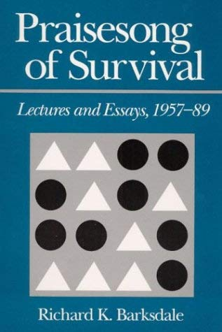 Image for Praisesong of Survival: Lectures and Essays, 1957-89